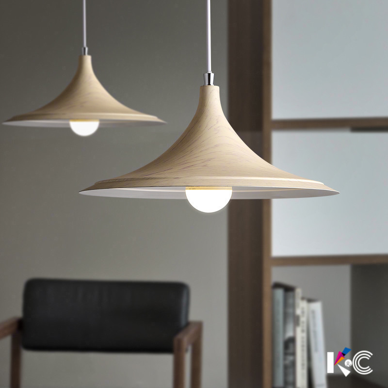 Nordic iron wood grain  pendant light dining room table kitchen bedroom bedside lamp  Bar hanging light E27Nordic iron wood grain  pendant light dining room table kitchen bedroom bedside lamp  Bar hanging light E27