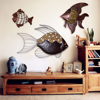 Nostalgic vintage fish muons wall decoration wall