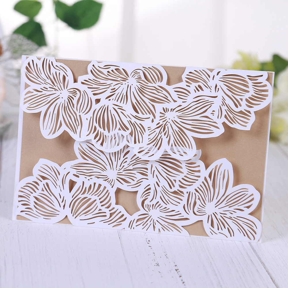 Segnaposto Matrimonio Aliexpress.Hollow Out Luxury Laser Cut Wedding Invitations Elegant Card Set