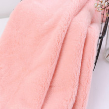 wide 160CM fake fur fabric fluffy can make bag scarf shoes gloves pillow toy white black blue red yellow pink Gray