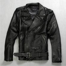 Autumn winter Locomotive males harley bike layer leather-based fits leather-based jackets thick Jacket Males
