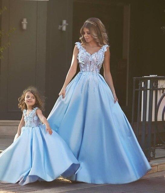 Schöne Nette Prom Brithday Kleid Erstkommunion Für Mädchen Blau ...