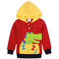 red yellow boys hoodies letter children wear sweatshirts jacket baby clothes new year sports suits baby kids cotton clothing