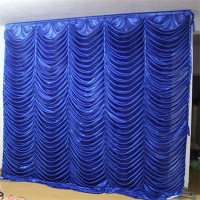 Wedding party backdrop ice silk fabric wave backdrop for wedding party banquet birthday decoration