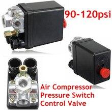 Heavy Duty Air Compressor Pressure Control Switch Valve 90-120PSI 12 Bar 20A AC220V 4 Port 12.5 x 8 x 5cm Favorable Price