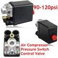 Heavy Duty Compressor de Ar Interruptor de Controle de Pressão Da Válvula 90-120PSI 12 Bar AC220V 20A 4 Port 12.5x8x5 cm Preço Favorável