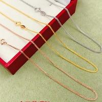 Shilovem 18 k золотое ожерелье ювелирных украшений для женщин Свадебные завода, оптовая продажа, Новое поступление, подарок при покупке xl003