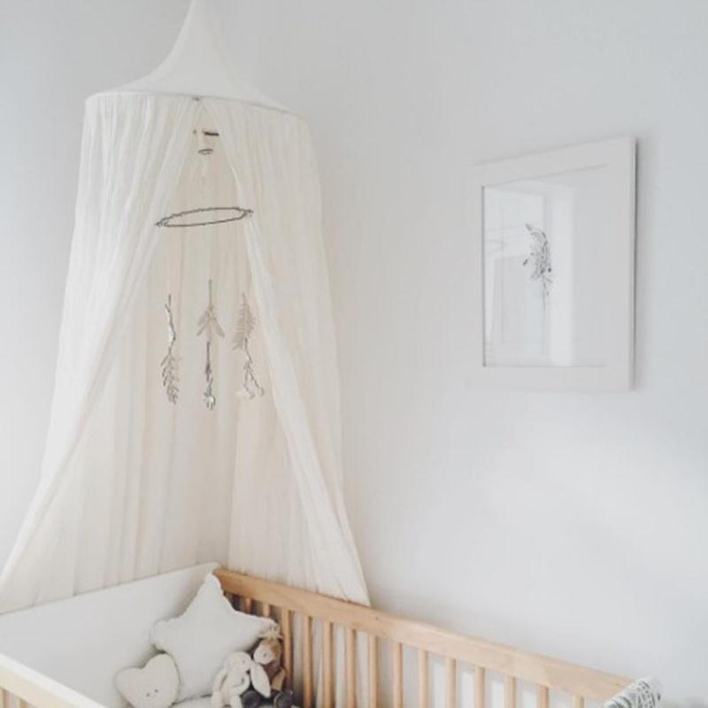 Crib Netting Special Section Crib Netting 240cm Bed Canopy Kids Home Bed Curtain Round Baby Tent Cotton Hung Dome Baby Bed Mosquito Net Photography Props To Enjoy High Reputation In The International Market