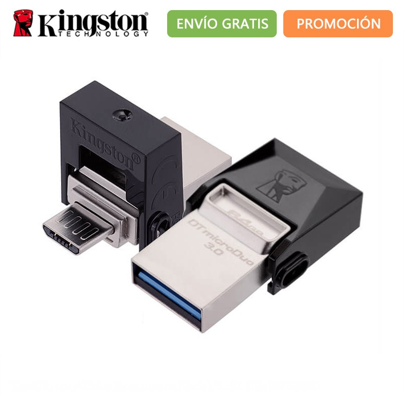 Original High-speed <font><b>Kingston</b></font> DataTraveler 16GB <font><b>32GB</b></font> 64 GB OTG Micro <font><b>USB</b></font>-Stick 16 32 64 GB <font><b>USB</b></font> 3.0 Dual verwenden microUSB DTDUO3 image