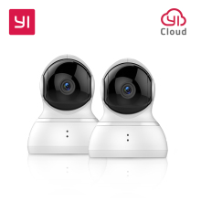 YI Dome Camera Tilt/Zoom Wireless IP Cam Surveillance 720p HD Night Vision Camera Alarm System Security EU Edition Cloud Service