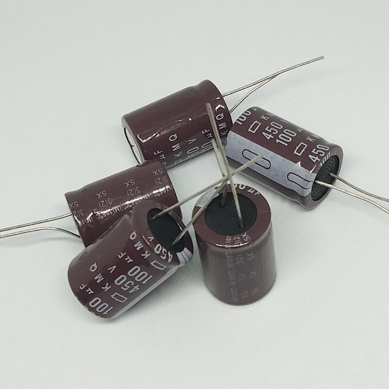 electrolytic capacitor Original 5 pcs/lot 450V 100UF 18MM * 25MM 100uf 450v KXG electrolytic capacitor ic ... (4)