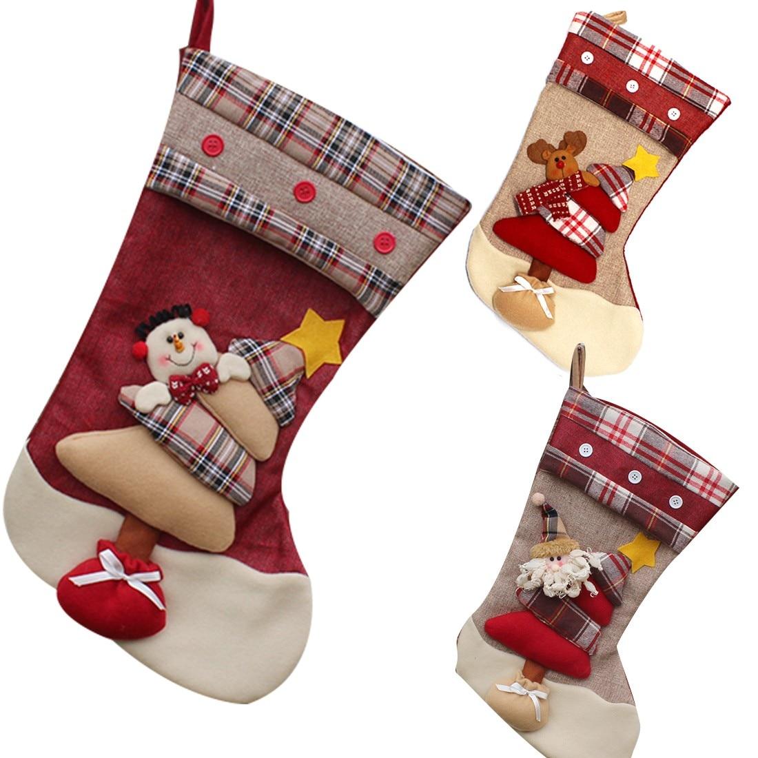 ᐂAño Nuevo Navidad calcetines decoración del embalaje del regalo de ...