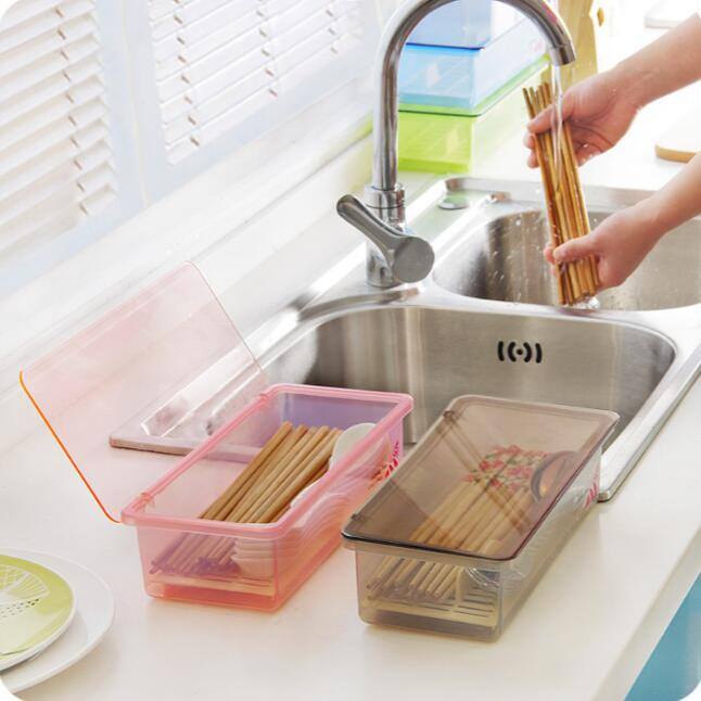Brief with drainer compartment compartment plastic for Cutlery storage with lid
