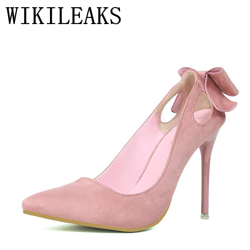 designer Butterfly-knot pumps women shoes high quality flock pointed toe fetish high heels woman pink gray black orange red shoe asumer 2017 new high quality flock women pumps pointed toe high heels 8cm office lady dress shoes woman black wine red