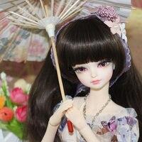 Fortune дней 1/4 моносахарид BJD Кукла Совместное тела с косметикой возрождается девушки маленький Цветочная юбка костюм 45 см Высокое качество