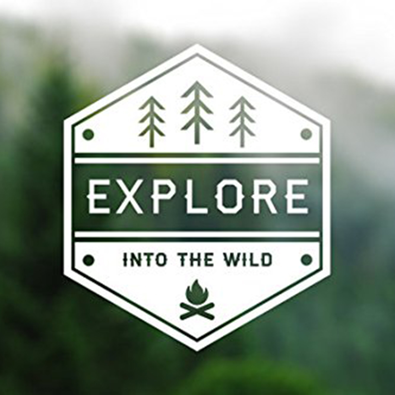 Explore Into The Wild Wanderlust Decal Vinyl Sticker Cars Trucks Fashion Personality Creativityer