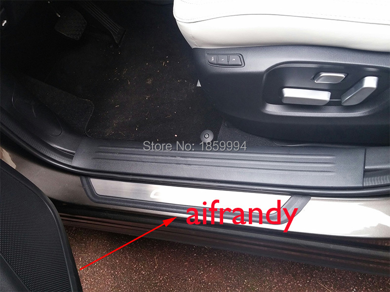 for 2017 2018 Mazda CX-5 CX5 KF car exterior scuff plate door sill trim welcome pedal for mazda cx 5 cx5 2nd gen 2017 2018 interior custom car styling waterproof full set trunk cargo liner mats tray protector