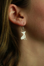 Min 1 Pair Handmade Jewelry Chihuahua Earrings Dog Studs Silver Charms Dangle Charm Memorial Mothers Day Gift For Women Lovers
