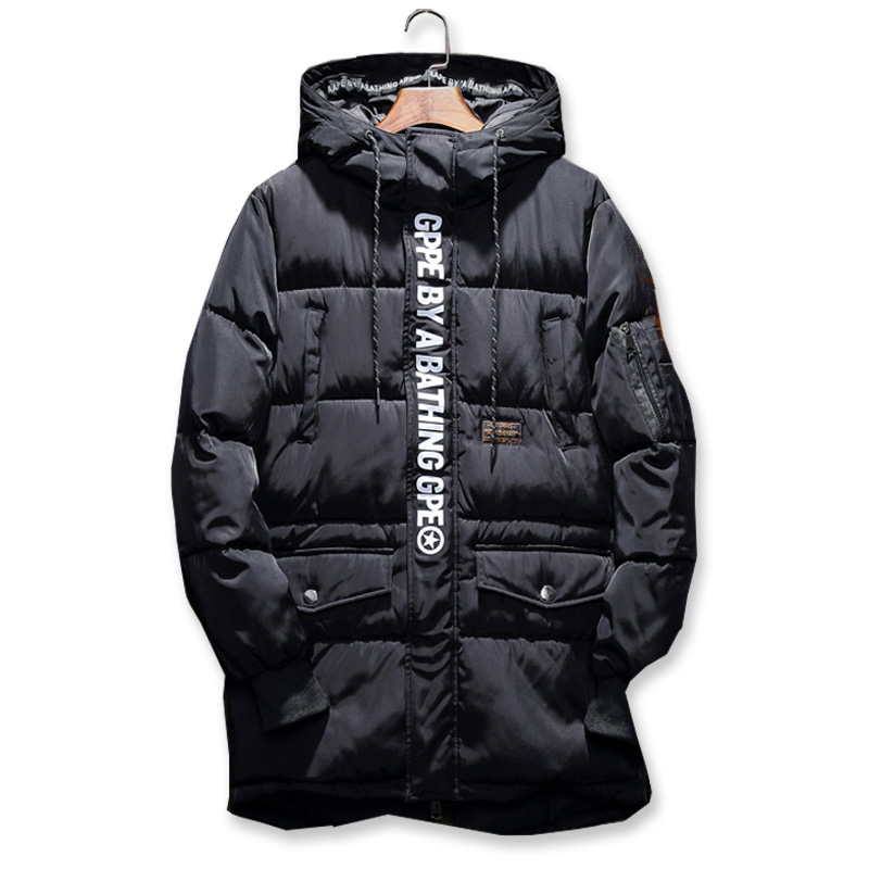 2017 New Winter Jacket Men Windbreaker Thick Loose Long Hooded Parka Man Parka Warm Winter Jacket Big Size 5XL купить