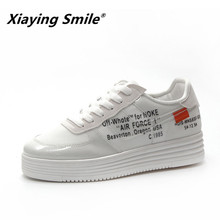 Xiaying Smile Casual Cutouts Lace Canvas Shoes Spring Summer Women Fashion  Shoes Breathable Platform Flat Coloured Shoes 73e75ad479d7