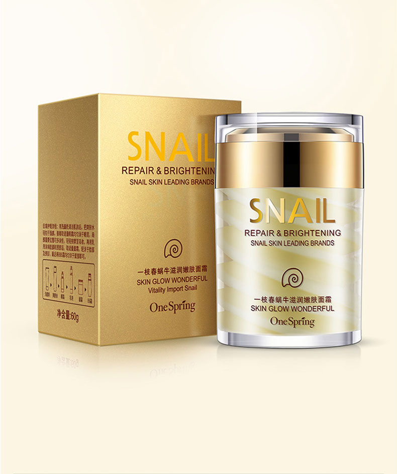 OneSpring Snail Cream Anti Wrinkle and Nourishing Acne Treatment