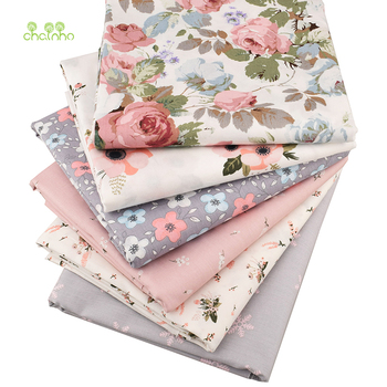 Chainho,6pcs/Lot New Floral Series Twill Cotton Fabric,Patchwork Cloth,DIY Sewing Quilting Fat Quarters Material For Baby&Child 2