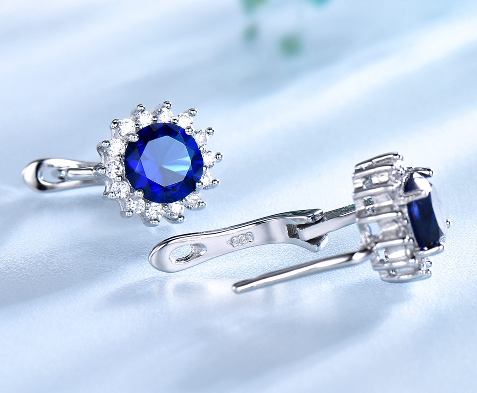 UMCHO Sapphire 925 sterling silver jewelry set for women S020S-1 (5)