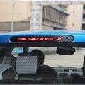 Para Suzuki Swift Luz Adicional De Freno Sticker Styling accesorios del coche Cubierta de la luz de Freno de Fibra de Carbono Etiqueta Engomada Del Coche Decorativos