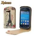 Вертикальный Флип Мобильный Телефон Вверх и Вниз Кожаный Чехол для Samsung Galaxy Fame Lite S6790