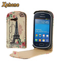 Vertical Flip Cell Phone Up and Down Leather Case for Samsung Galaxy Fame Lite S6790