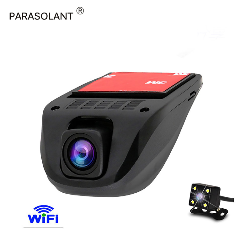 PARASOLANT Car Dvr WIFI DVRs Night Version Dual Camera Lens Registrator Dashcam Digital Video Recorder Camcorder Full HD 1080P 6 86 android 3g car dvr gps camera dash camera full hd 1080p video recorder wifi bluetooth registrator dual lens dvrs dashcam