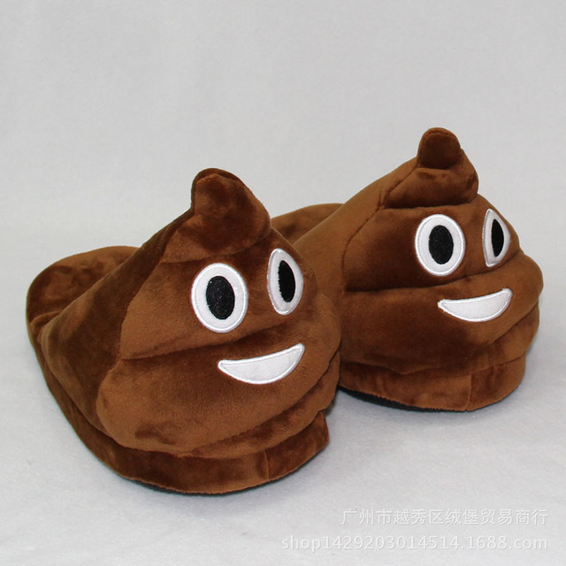 us $12.56 26% off|emoji slippers soft plush slippers chinelos pantufas  indoor,home,house ,bedroom slippers warm shoes for women,lady,girl-in  slippers