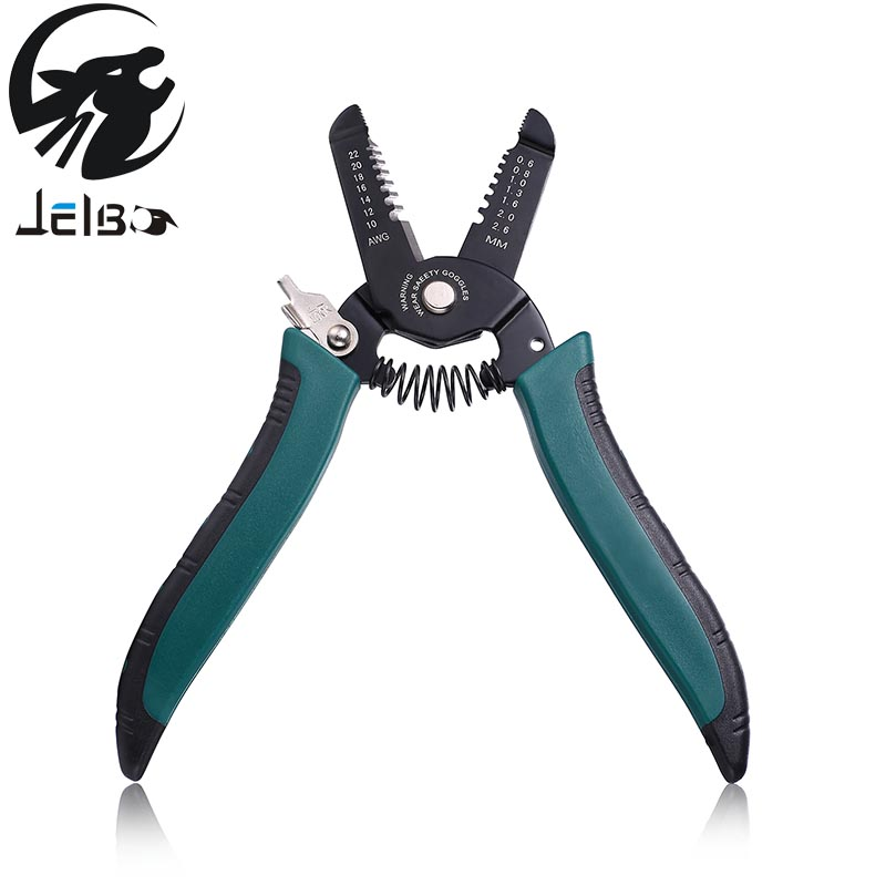 Jelbo 6/7inch Stripping Pliers Tools Hand Tools Crimping Plier Electrician Plier Wire Stripper Side Cutters Multitool Stripper ly05h 5a2 combination tools crimping pliers wire cutters 4 die sets
