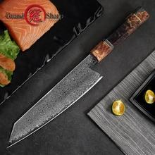 8,2 дюймов дамасский кухонный нож ручной работы, нож шеф-повара VG10, японский дамасский стальной кухонный нож, Подарочная коробка Grandsharp
