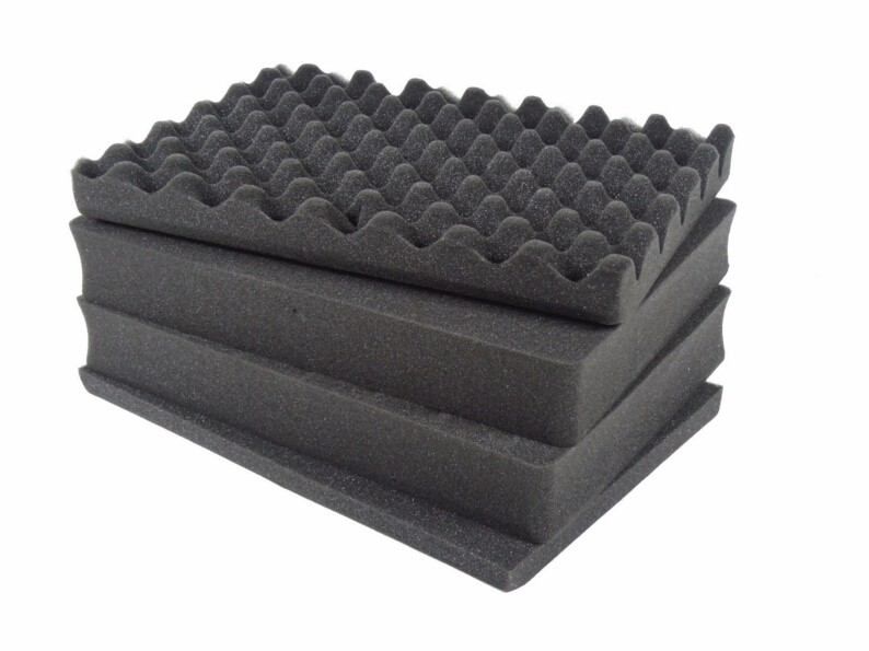 55mmsolid Foam+egg Foam 440*335*50mm+pre-cut Foam 440*335*15mm +440*335*30mm Easy Cutting Pick Pluck Foam For Tool Case Tool Box