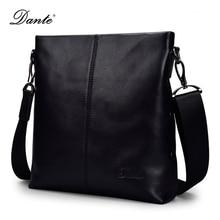 DANTE Genuine Leather Men Messenger Bag Designer Handbags High Quality Crossbody Shoulder Bags DT008