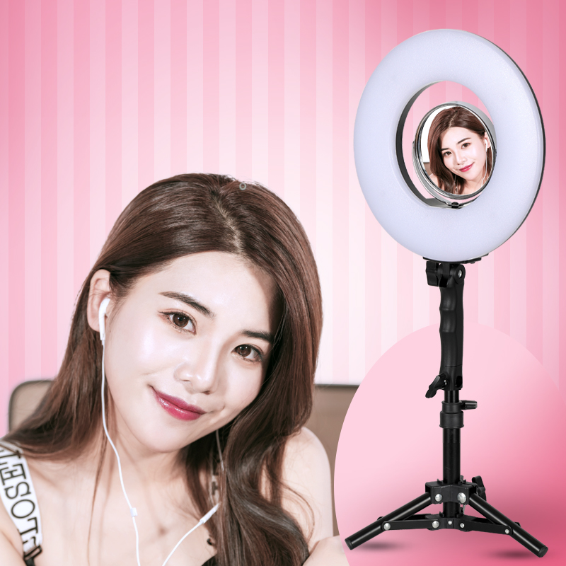8 inch 24W 5500K 120 LED Photographic Lighting Dimmable Camera Photo/Studio/Phone Photography Ring Light Lamp&Tripod Stand