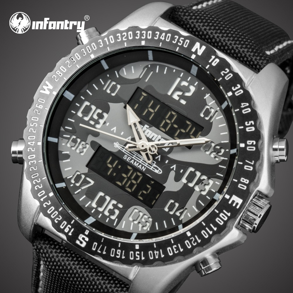 цена на INFANTRY Mens Watches Top Brand Luxury Aanlog Digital Military Watch Men Tactical Police Army Watches for Men Relogio Masculino
