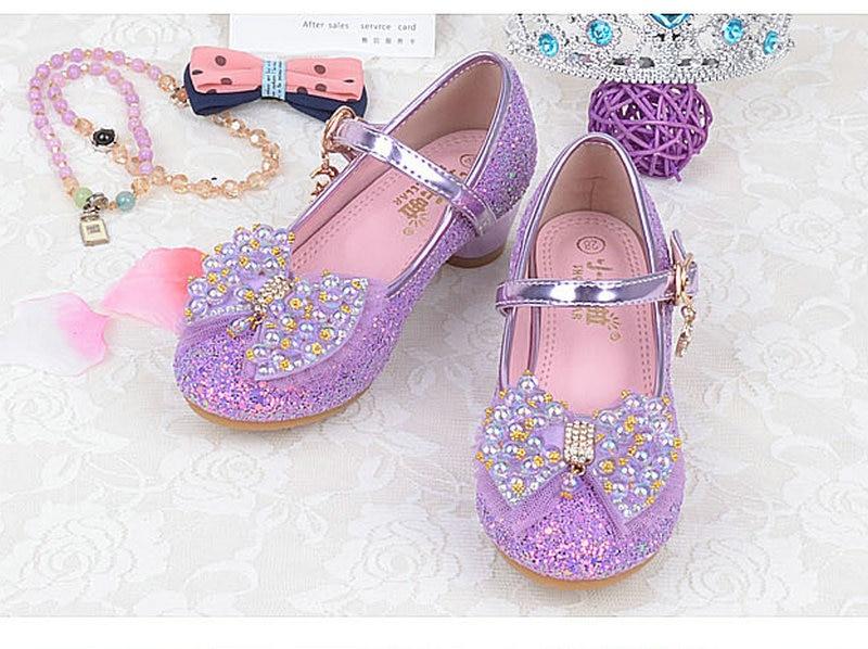 Nuevas Niñas Niños Niños Sandalias Princesa Zapatos de Cuero Perla - Zapatos de niños