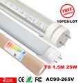 CE led tube 1500mm 25Watt, 130pcs SMD2835 T8 tube light 5ft