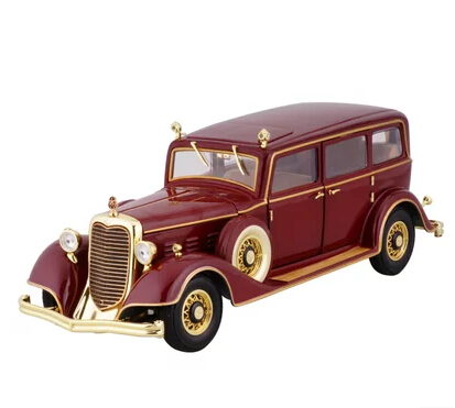 Cadillac 1932 classic cars 1 18 High quality alloy car model simulation Red Qing emperor car