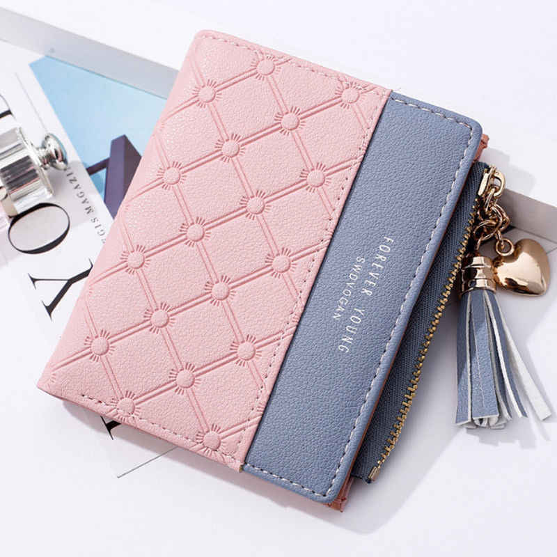 New Stylish Women Girls Fashion Small Mini Leather Wallet Card Holder Coin  Purse Clutch Handbag 106cd1775211b