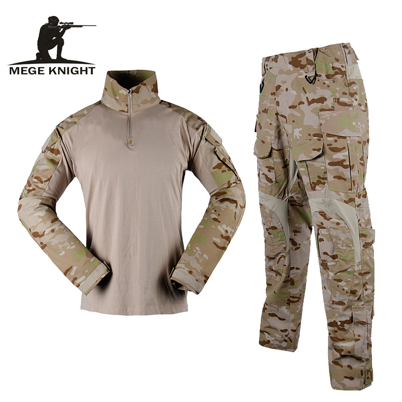 Mege Camouflage Tactical Military Uniform Multicam Special Forces Soldier Suit Combat Shirt Pants Tactics Airsoft Militaire