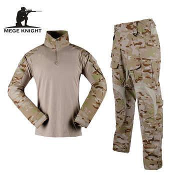 Mege Camouflage tactique Militaire uniforme Multicam Forces spéciales soldat costume Combat chemise pantalon tactique Airsoft Militaire