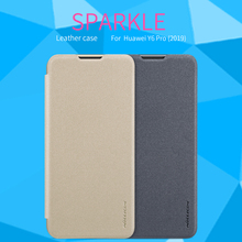 For Huawei Y6 Pro 2019 Case Cover NILLKIN Sparkle PU Leather Cases Flip Book Style Cell Phone Bag