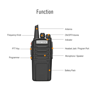 Image 3 - (2 stks) zastone Walkie Talkie A9 10 w Radio Amador UHF 400 480 mhz Handheld Transceiver CB Radio Draagbare Comunicador