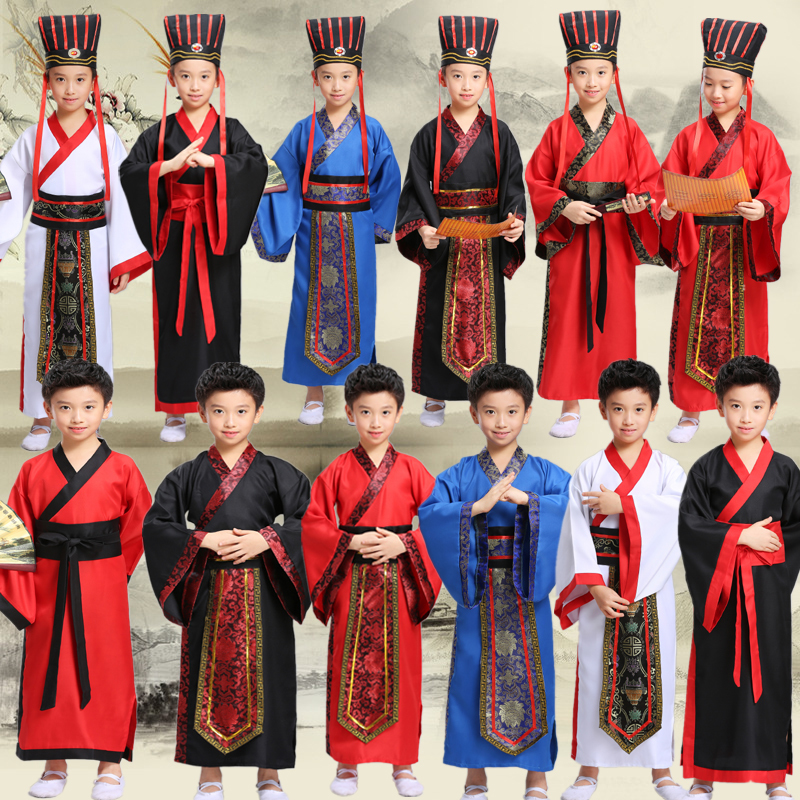 traditional chinese dance costumes for boy ming opera children Ancient Fairy han tang dynasty qing hanfu Dress Child kids kid