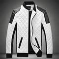 Зима весна мужские белый кожа куртки и пальто, Jaqueta де Couro Masculina мужчины байкер куртка кожа пальто и куртка мужчины