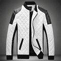 2015 NEW Winter Spring Mens White Leather Jackets And Coats,Jaqueta De Couro Masculina Men Biker Jacket Leather Coats&jacket Men