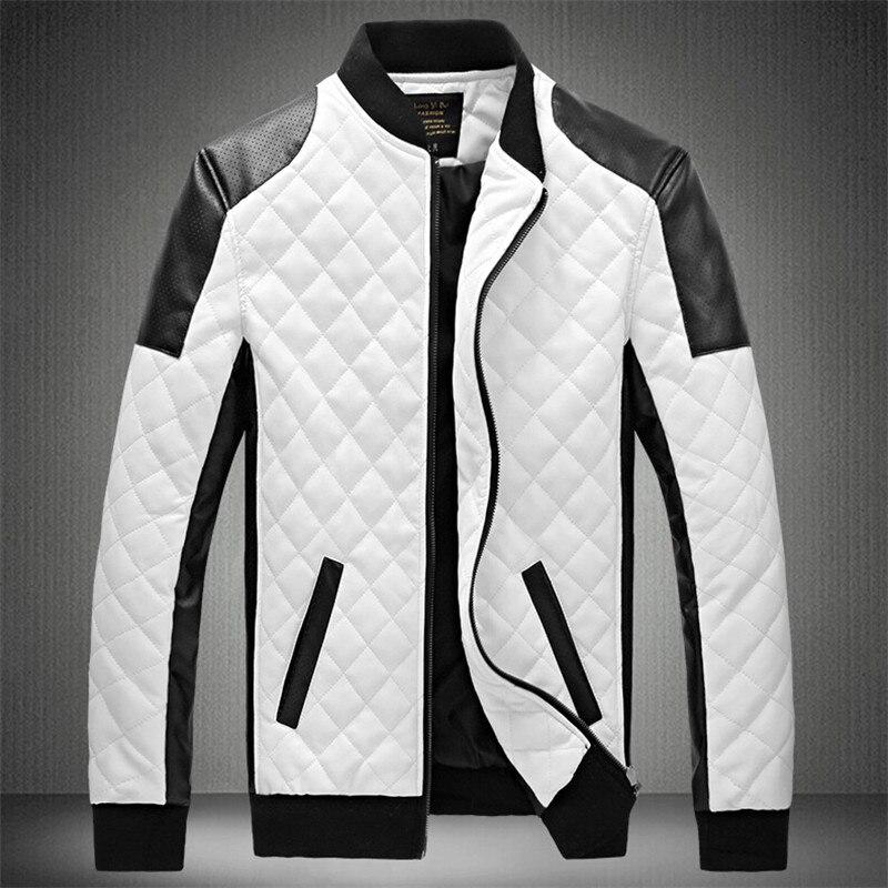 Popular White Leather Jacket Man-Buy Cheap White Leather Jacket ...